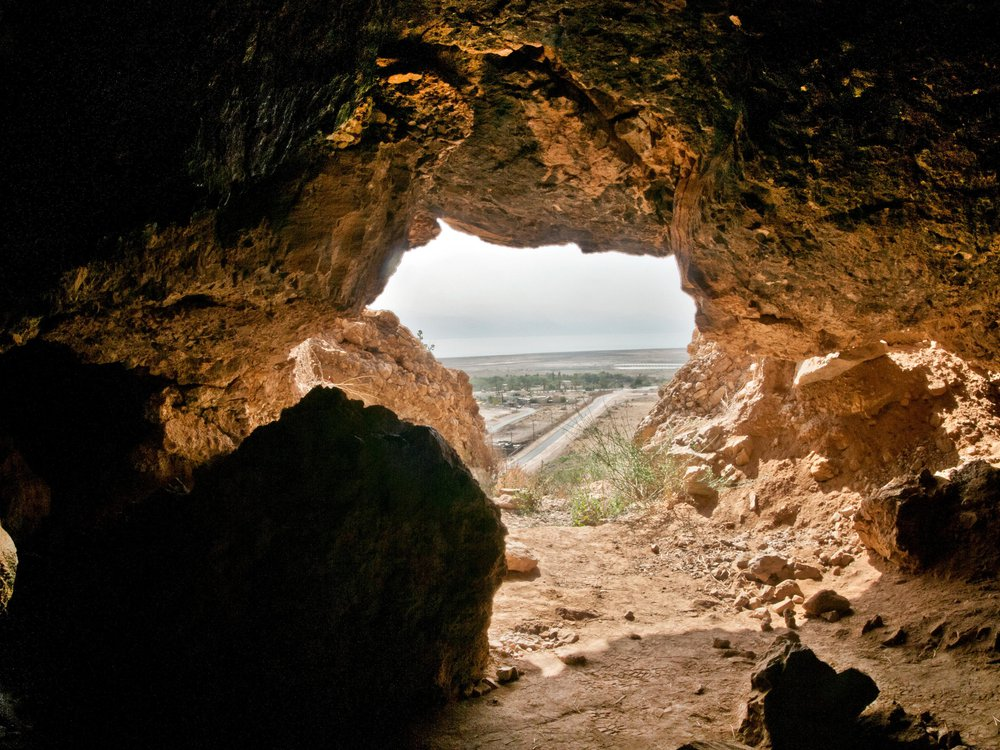One of the Qumran caves