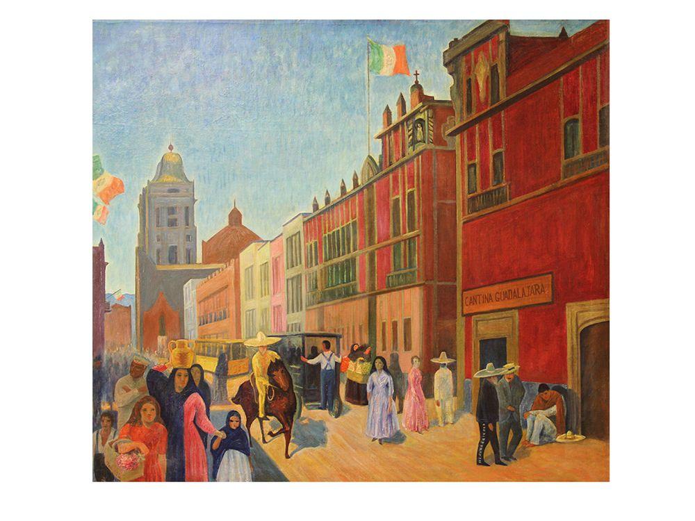 Walter Pach, Street in Mexico, Francis M. Naumann Fine Art, New York
