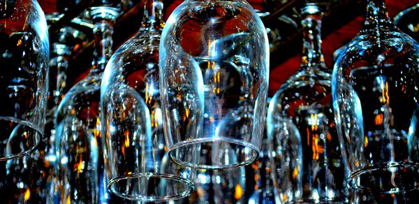 Bar glasses abstract. thumbnail