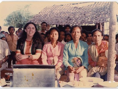 Anthropologist S. Ann Dunham (above, left) documented traditional crafts in Indonesia. Her field notes are now digitized and the Smithsonian is looking for digital transcribers.