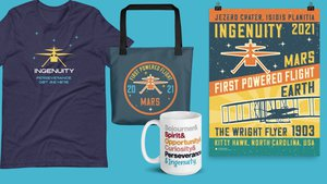 Preview thumbnail for Celebrate the First Flight on Mars! Shop Our Limited Edition Ingenuity Collection - Available Through Apr. 30