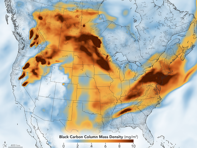The billowing smoke resulted from nearly 300 wildfires currently ravaging British Columbia, Canada's westernmost providence, and 80 fires blazing through states in the Western United States.