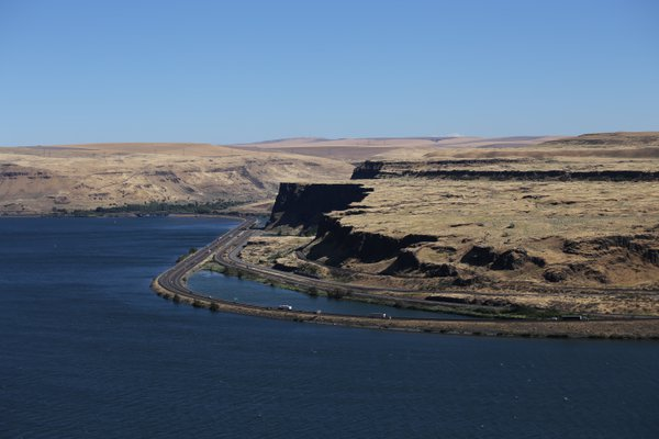 Driving on the Columbia River thumbnail