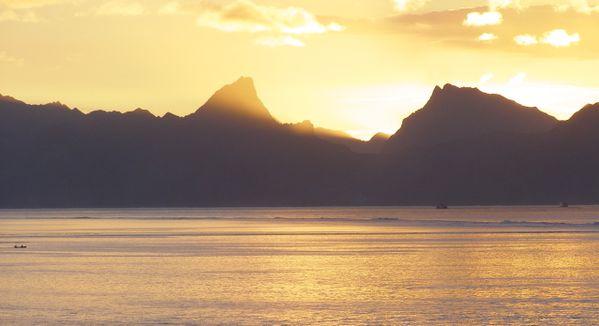 French Polynesian Sunset Moorea From Tahiti thumbnail