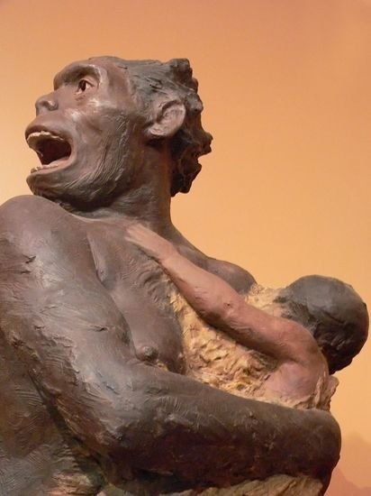 An artist's vision of a Neanderthal