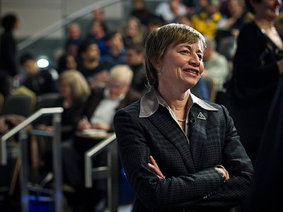 """Maria Zuber, first woman to run a NASA spacecraft mission, says she has a """"genetic predilection"""" to explore space."""