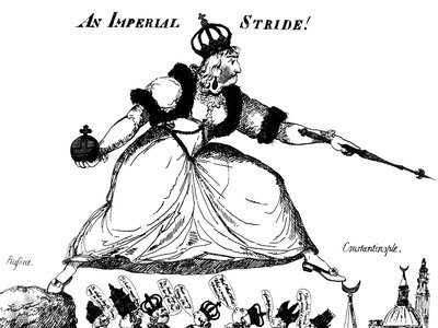 Late 18th century English cartoon on Catherine the Great's territorial ambitions in Turkey.