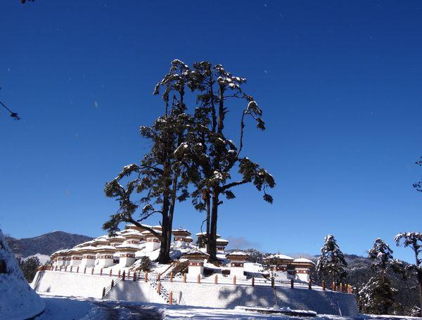 108 stupas build on the top of pass between Thimphu and Punakha thumbnail