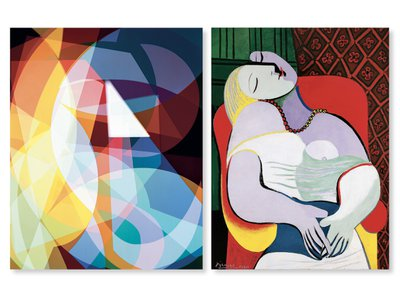 Left, Self-titled Adaptation of Le Rêve (1932), by Niko Luoma, 2015. Right, Le Rêve, by Pablo Picasso, 1932.