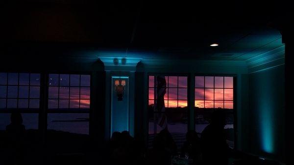 Sunset at a wedding reception thumbnail