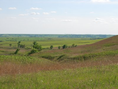 The awesomely beautiful tallgrass prairie in the Flint Hills of Kansas. The Flint Hills contains the majority of the remaining tallgrass prairie in the United States, thanks to its rocky soil that prevented farmers from plowing it under to farm the fertile soils. (Credit: Kim La Pierre)