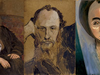 Henri Matisse and Pablo Picasso courted the Steins by doing portraits of them. Pictured are Gertrude, left, and Leo, center, by Picasso and sister-in-law Sarah by Matisse.