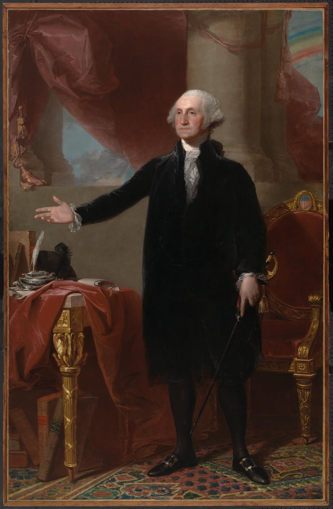 A Rainbow Shines Anew in National Portrait Gallery's Iconic George Washington Portrait