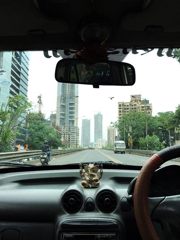 A taxi ride in Mumbai, India. thumbnail
