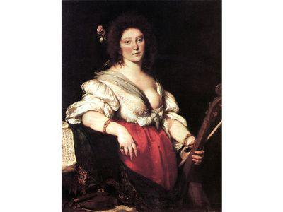 Portrait of composer Barbara Strozzi (1581-1644)