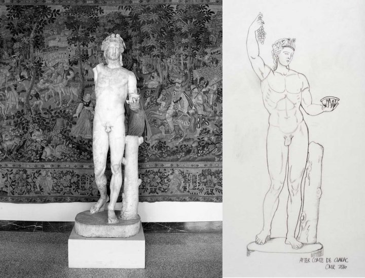 College Basketball Player Lends a Limb to Armless Roman Statue