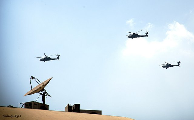 Egyptian military helicopters