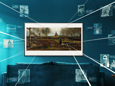 """The online exhibition """"Missing Masterpieces"""" highlights 12 works of art that have been stolen or gone missing over the years. Pictured here: Vincent van Gogh's The Parsonage Garden at Nuenen in Spring (1884), which was stolen from a museum in the Netherlands in March at the beginning of the Covid-19 lockdown."""