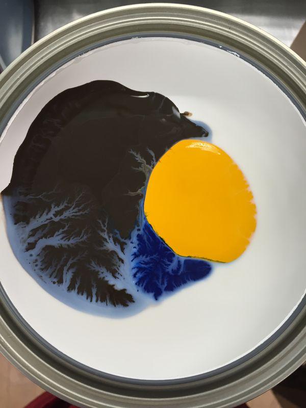 Paint mixing - abstract land thumbnail
