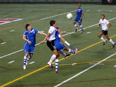 Boston Breakers vs Florida Magic Jack playing in the Women's Professional Soccer (WPS) before the league folded in 2012.