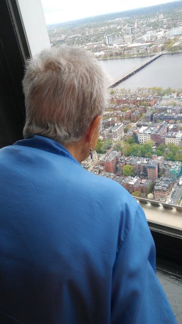 Mom looking at Boston from prudential bldg thumbnail