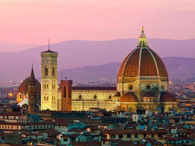 Filippo Brunelleschi designed Florence Cathedral's famed red-brick dome.