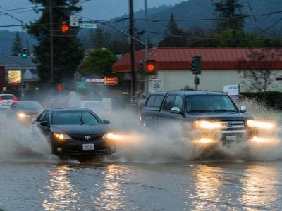 Strong atmospheric river events are driving record precipitation across the state of California.