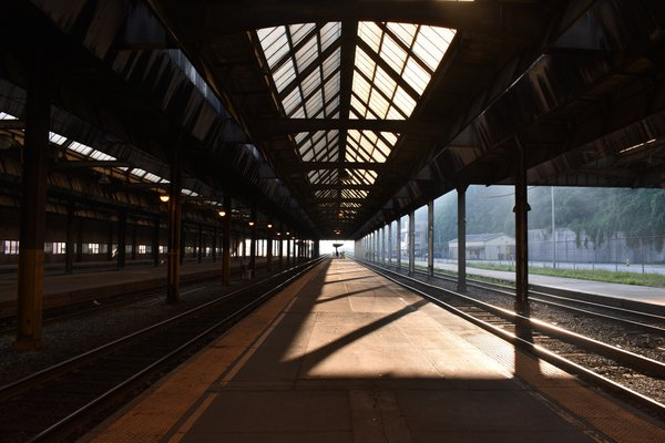A trainless view of the Pittsburgh Amtrak Station thumbnail