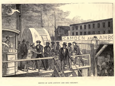 """Jane Johnson emancipated herself and her children by walking away from her former """"master"""", John Hill Wheeler, into the free city of Philadelphia, Pennsylvania."""