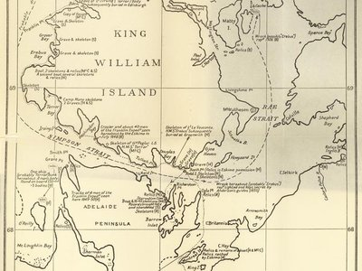 The Franklin Expedition hoped to find a northwest passage between the Atlantic and the Pacific
