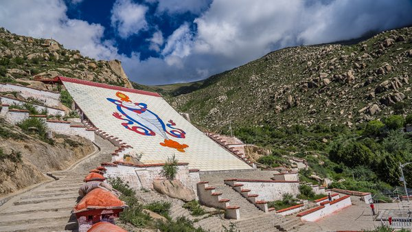 White Conch Shell at Drepung Monastery in Lhasa Tibet thumbnail