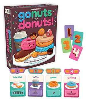 Preview thumbnail for 'Gamewright 111 Go Nuts for Donuts Card Game, Standard, Multicolor, Multicolor, Standard (CSG-Gonuts)