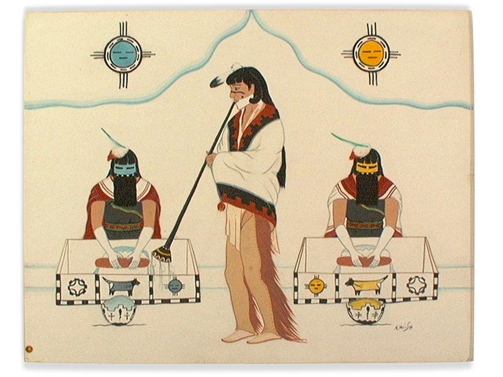 Percy Sandy (A:shiwi [Zuni], 1918–1974).