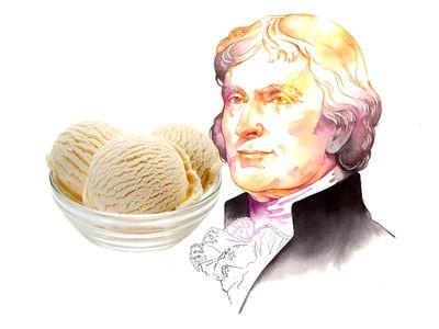 The third president evidently had a love of vanilla ice cream.