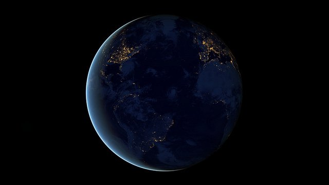 """""""Nothing tells us more about the spread of humans across the Earth than city lights"""" – NOAA."""