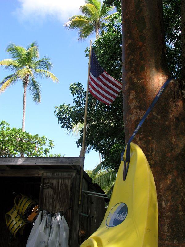 Flag & surfboard, Cinnamon Bay thumbnail