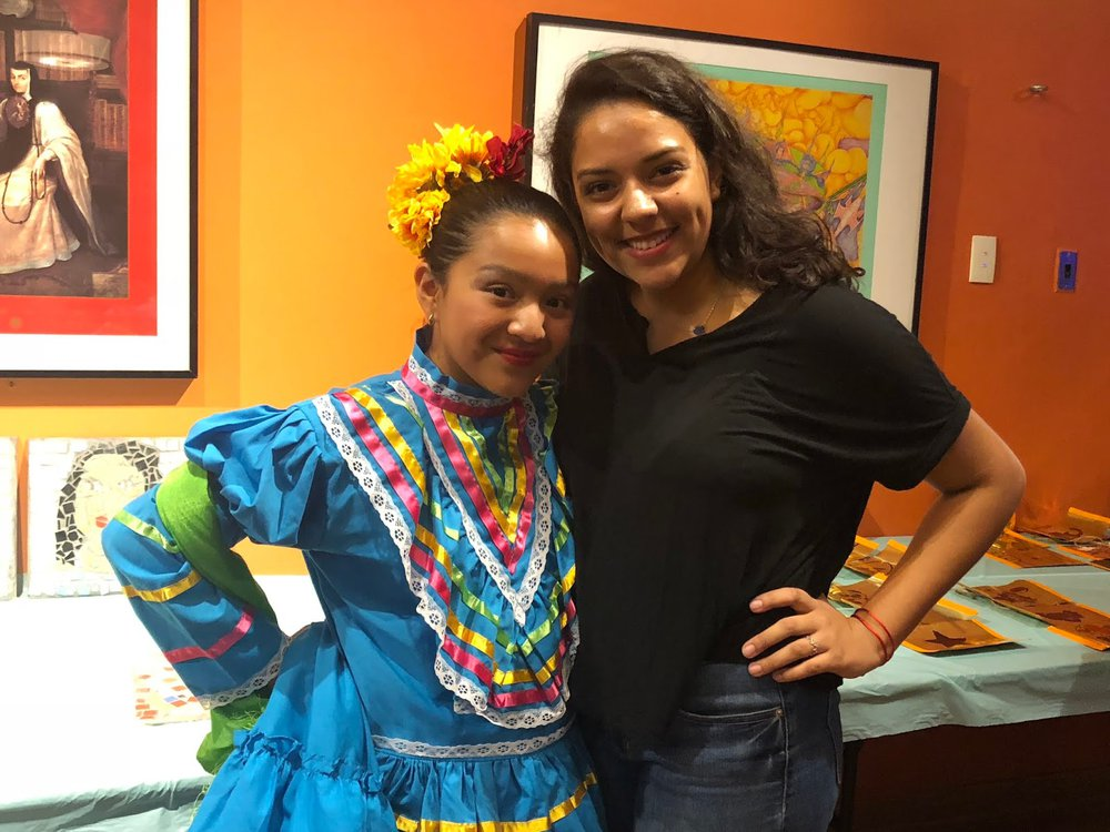 Young Ambassador, Yesenia Muñoz at the children's baile folklórico performance. (Courtesy of the National Museum of Mexican Art.)