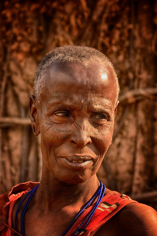 Old Tribal Woman With Scarred Face thumbnail