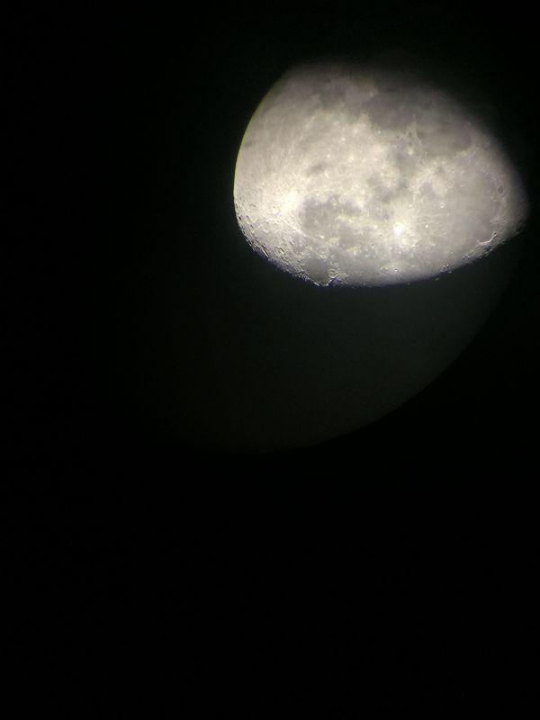 Waning Moon through telescope thumbnail