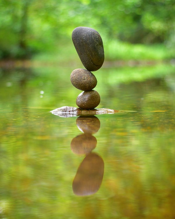 Stone balancing reflection thumbnail