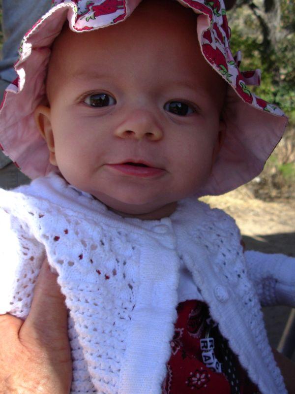 Baby Grace practices sun sense. thumbnail