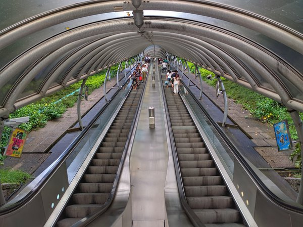 Up and down the escalator. thumbnail