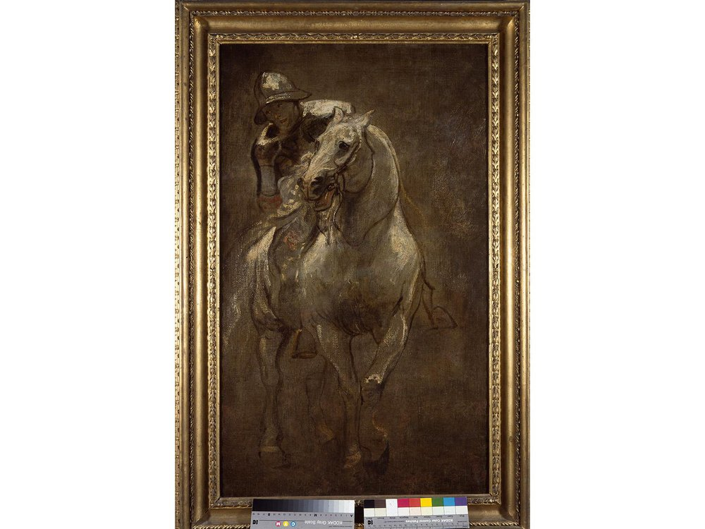 "Anthony van Dyck, ""A Soldier on Horseback"""