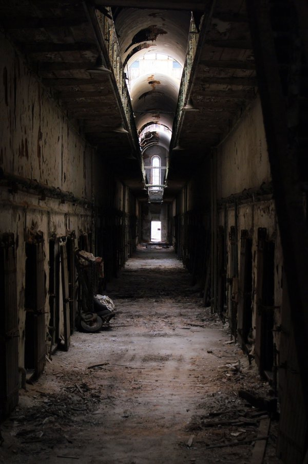 An abandoned cell block at Eastern State Penitentiary. thumbnail