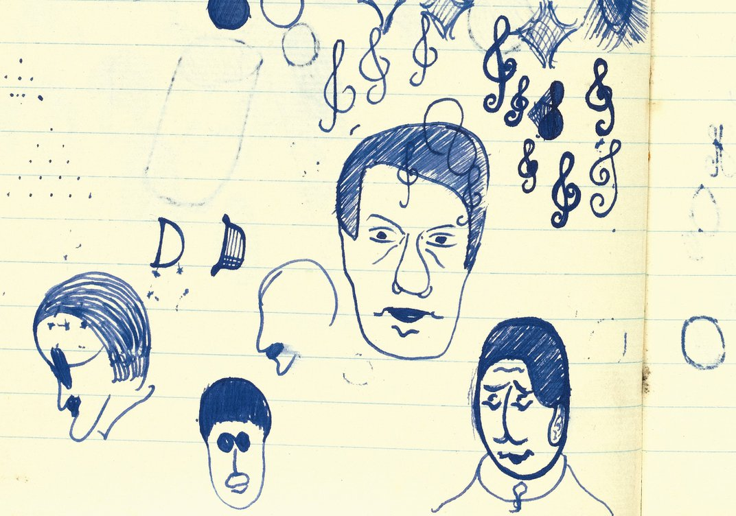 Beckett's doodle of James Joyce