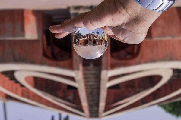 Jantar Mantar through a cryastal ball thumbnail