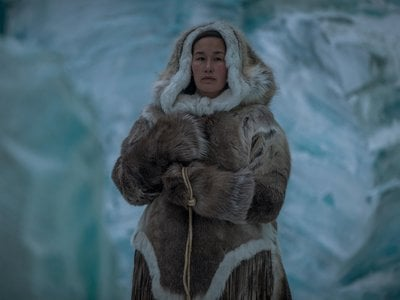 Musician and actor Nive Nielsen portrays Lady Silence, the most prominent Inuk character in 'The Terror.'