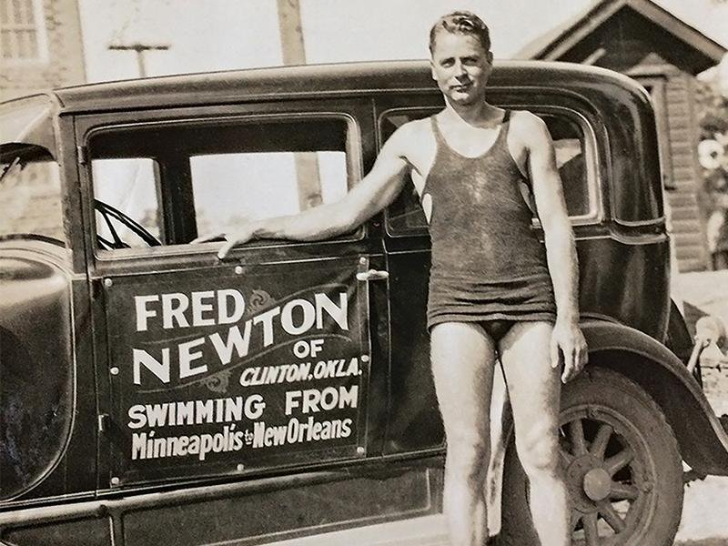Fred Newton promotes his record-breaking journey.