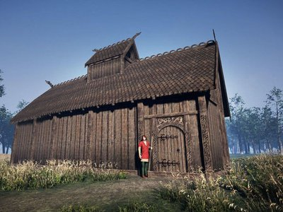 A digital reconstruction of the newly unearthed Norse godhouse