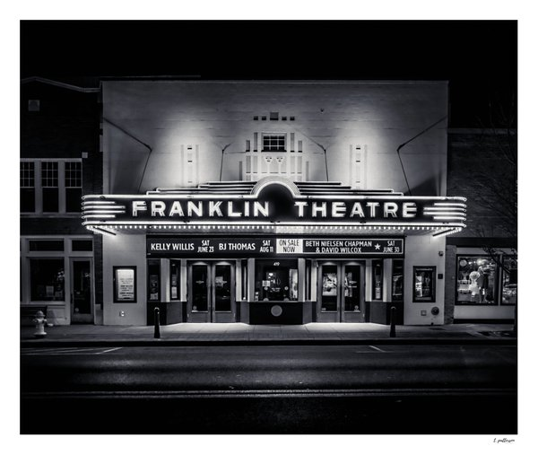 The old Franklin Theatre in historic Franklin, Tennessee thumbnail